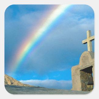 Rainbow Bahia De Los Angeles Mexico Square Sticker