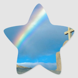 Rainbow Bahia De Los Angeles Mexico Star Sticker