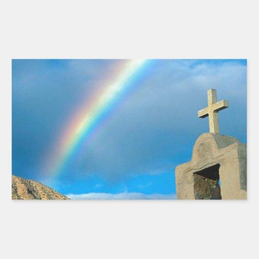 Rainbow Bahia De Los Angeles Mexico Rectangular Stickers