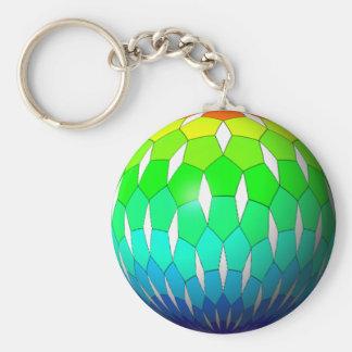 rainbow ball keychain