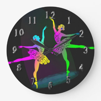 Rainbow Ballet Dancers In The Spotlight Wall Clock