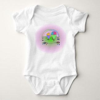 Rainbow Balloons Baby Bodysuit