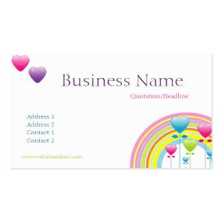Rainbow Balloons Business Card