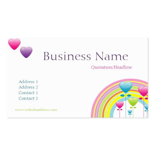 Collections of clown business cards rainbow balloons business card colourmoves
