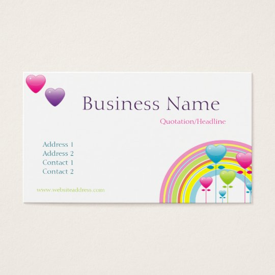 Rainbow & Balloons Business Card
