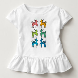 Rainbow Bambi Pattern Toddler T-Shirt
