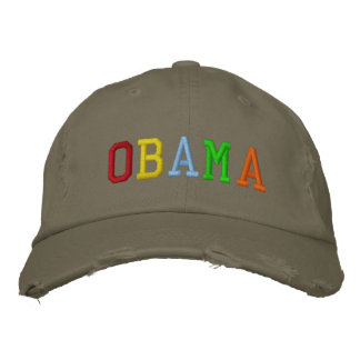 Rainbow Barack Obama Embroidered Hats