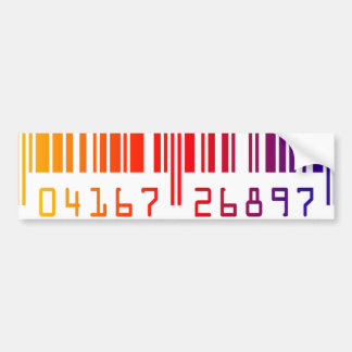 Rainbow Barcode Car Bumper Sticker