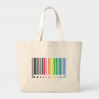 Rainbow Barcode Originality Tote Jumbo Tote Bag