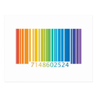 Rainbow Barcode Postcard