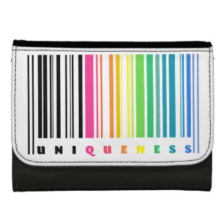 Rainbow Barcode Uniqueness Leather Wallet