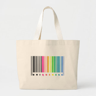 Rainbow Barcode Uniqueness Tote Bag