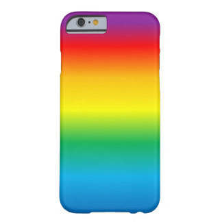 rainbow- barely there iPhone 6 case