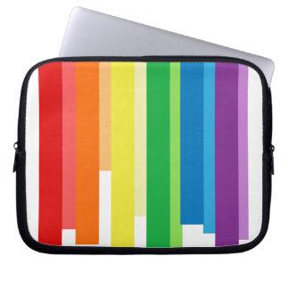 RAINBOW BARS -.png Laptop Computer Sleeve