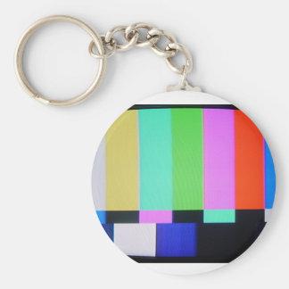 Rainbow bars TV keychain