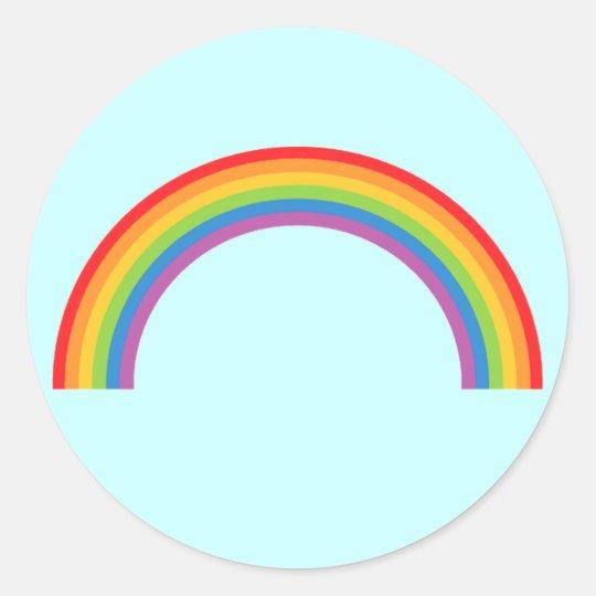 Rainbow-Basic Classic Round Sticker