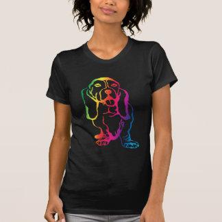 Rainbow Basset Hound T-Shirt