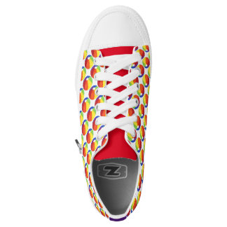 Rainbow Beach Ball Beachball Summer Fun Sneakers