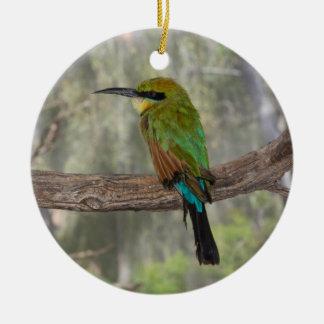 Rainbow bee-eater bird, Australia Round Ceramic Decoration