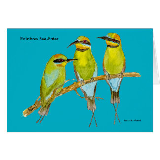 Rainbow Bee-Eater Bird Card
