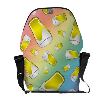 Rainbow beer courier bag
