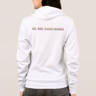 Rainbow — Bella+Canvas Raglan Zip Hoodie (back)