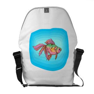 Rainbow Betta Fish Messenger Bags