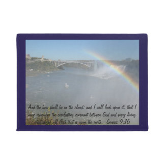 Rainbow Bible Scripture Door Mat