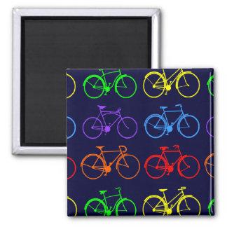 Rainbow Bikes Magnet