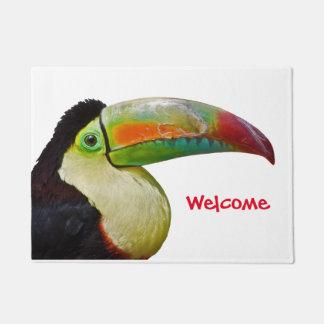 Rainbow-Billed Toucan Door Mat (Choose colour)