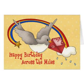 Rainbow Bird Across the Miles Greeting Card