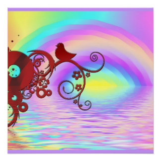 Rainbow Bird Animal Nature Peace Office Destiny