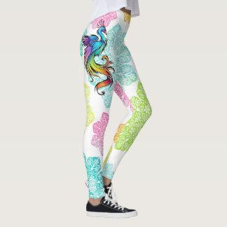 Rainbow bird leggings