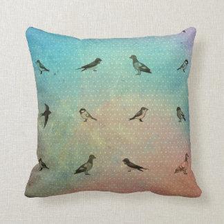 Rainbow Bird Pattern Cushion