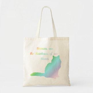 Rainbow Birman Tote Bags