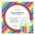 Rainbow Birthday Personalized Announcements