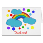 Rainbow Birthday Thank You Note Cards