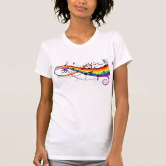 Rainbow Black Musical Notes Tshirts