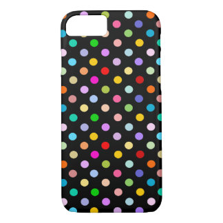 Rainbow & Black Polka Dot pattern iPhone 8/7 Case
