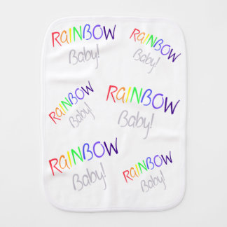 Rainbow Blessing Burp Cloth
