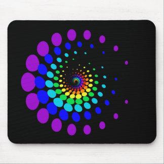 rainbow blobs mousepad