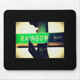 rainbow blvd mouse pad