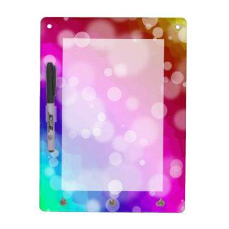 Rainbow Bokeh Pattern Dry Erase Board