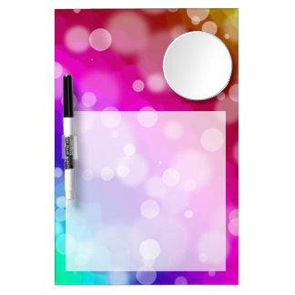 Rainbow Bokeh Pattern Dry Erase Board With Mirror