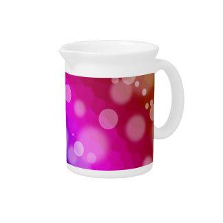 Rainbow Bokeh Pattern Pitcher