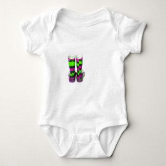 Rainbow Boots Baby Bodysuit