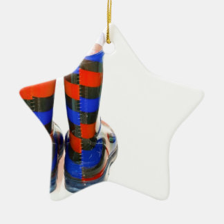 Rainbow Boots Christmas Ornament