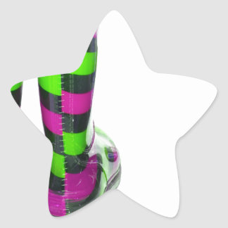 Rainbow Boots Star Sticker