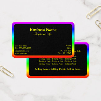 Rainbow Border Business Card