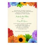 Rainbow Bouquet Wedding Personalized Announcements
